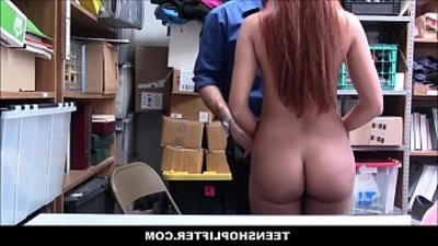 Sexy Big Ass youngster Shoplifter From The Czech Republic Ornella Morgan Fucked By Security Officer