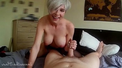 Lesboy crevicean takes her first cock Point of view Samantha Flair