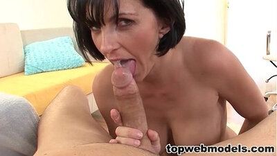 Poor wife swallows all of his cum when he passes out