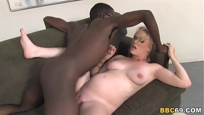 Average Squirter Getting Her Pregnant Pussy Fucked By Black Cock
