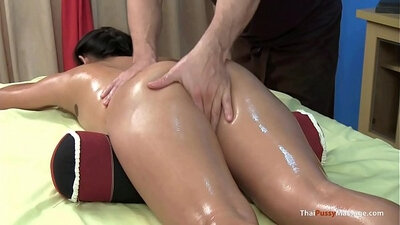 Asian girl fucked hard during massage
