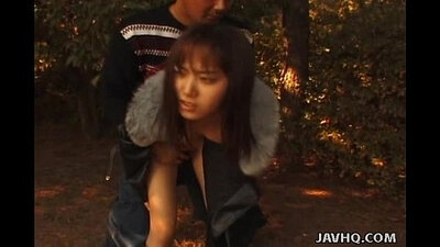 Asian BBW action during outdoor sex