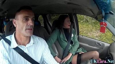 Businessman fuck brunette girl employee in stockings