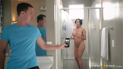 Bengali bride in the shower with step son