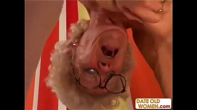 Hairy granny getting creampied at the park