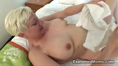 big-breasted blonde mother interracial with black man