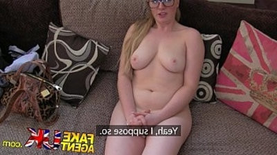 FakeAgentUK Deep throating and anal sex from seemingly shy inpracticed