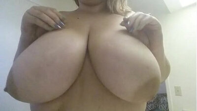 Cute Blonde with Huge Boobies Gets Her Thighs Full