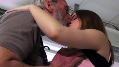 Euphoric soiree girl is butt spankped and fucked by her ancient hubby