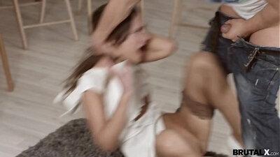 Casting of teen gals doing blowjob