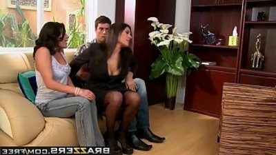 Real Wife Threesome Therapy scene starring Charley Chase Raylene and Ramon