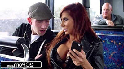 Steamy FFM Threesome on a Tour Bus in London Jasmine Jae, Madison Ivy