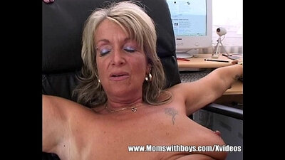 Blonde mature secretary getting fucked