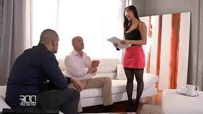 Eurasian beauty Sharon Lee gets double penetrationed