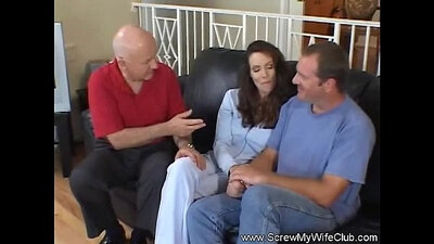 Sexy swinger wife gets anal fucked during sex audition!