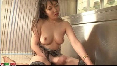 Cute Haruka Oowitnesseda in stayie sucking and riding big dick