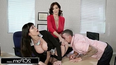 Fantasy instructer vs Stepmom threeSome for a Lucky Guy Charlee Chase, Eva Karrera
