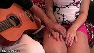 dad in law licks and fucks young cunt
