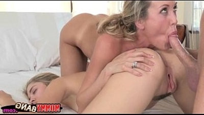 Naughty youthfullster Lia Lor pounded with stepmom hooter slingndi Love