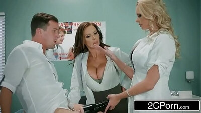 Sexy Brandi Clit Nurse Eden Crouz Gets a Threesome From Outta Control