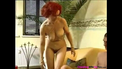 Thirsty german redhead Astro gets fucked in a park