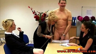 CFNM dominatrix and another mature