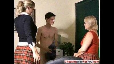 Mature Girl Gives Wicked Handjob