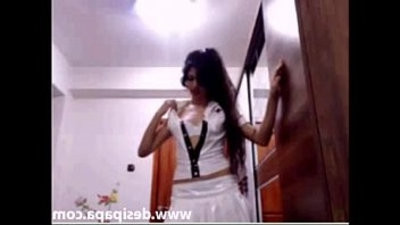 sexy indian babe in nurse clothings on live sex chat webwebcam display