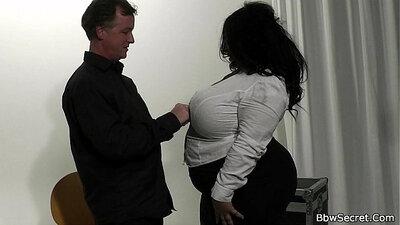 Athletic ebony bbw hiding her massive gigantic boobs & semen vids