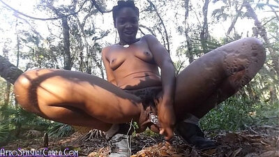 Blonde squirting in heels masturbation outdoors