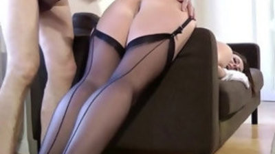 Mature stockings milf get fucked deep and hard from behind