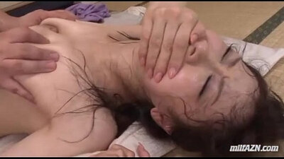 Hairy pussy MILF fucked by DP until cumshot