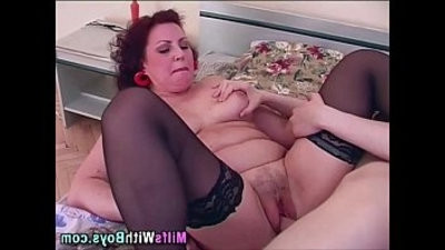 Mature Sexy Stockings Riding big black huge Dick
