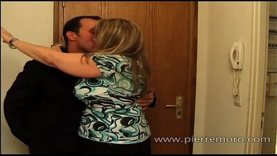 blonde mom black with a large ass is getting fucked in the laundry room