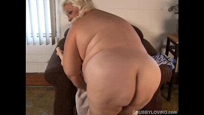 Blonde bbw huge busty tits walk