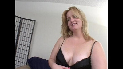Chubby big ass blonde facialized
