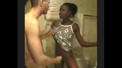 Ebony Misopoda stripping and hard runling in the stall FTV I You