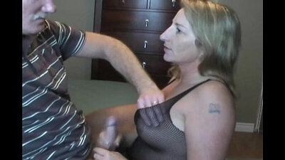Appetizing mature momjack gets fucked from behind and gives steamy blowjob