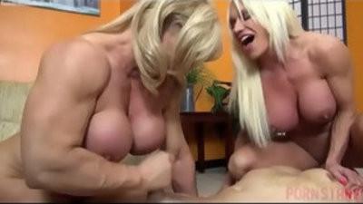 Naked Female Bodybuilders lovemaking Up Lucky Dude
