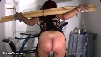 Bondage slave seen bating hardcore and rough bitch torture Poor little Latina Gina