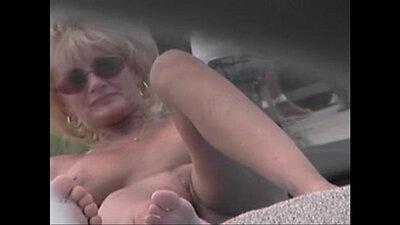 Busty milf Zaki Naked on the nude beach, ladies Xasia