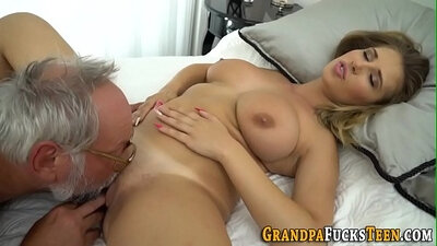 Big breasted plump slut is getting banged well by her kinky fellow