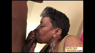 Hung Grandma Hazing A Big Black Dick