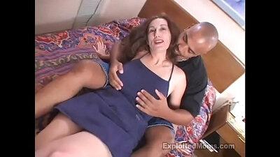 Black mom with round cock interracial