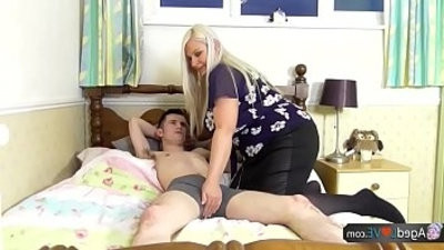 AgedLovE Old Busty unexperienced Blonde Grannies Lacey Hardcore